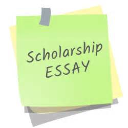 How to set up a scholarship essay